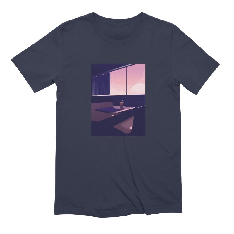 Empty Cafe Men's Extra Soft T-Shirt by theladyernestember's Artist Shop