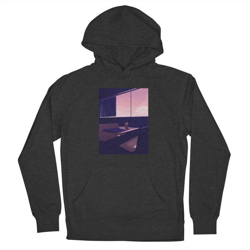 Empty Cafe Men's French Terry Pullover Hoody by theladyernestember's Artist Shop