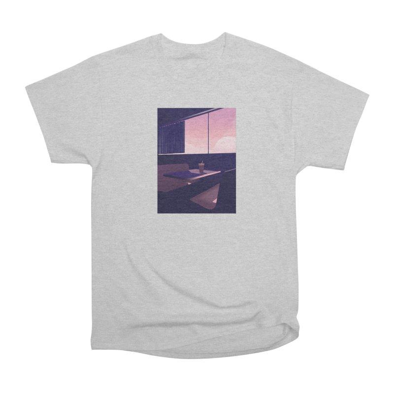 Empty Cafe Men's Heavyweight T-Shirt by theladyernestember's Artist Shop