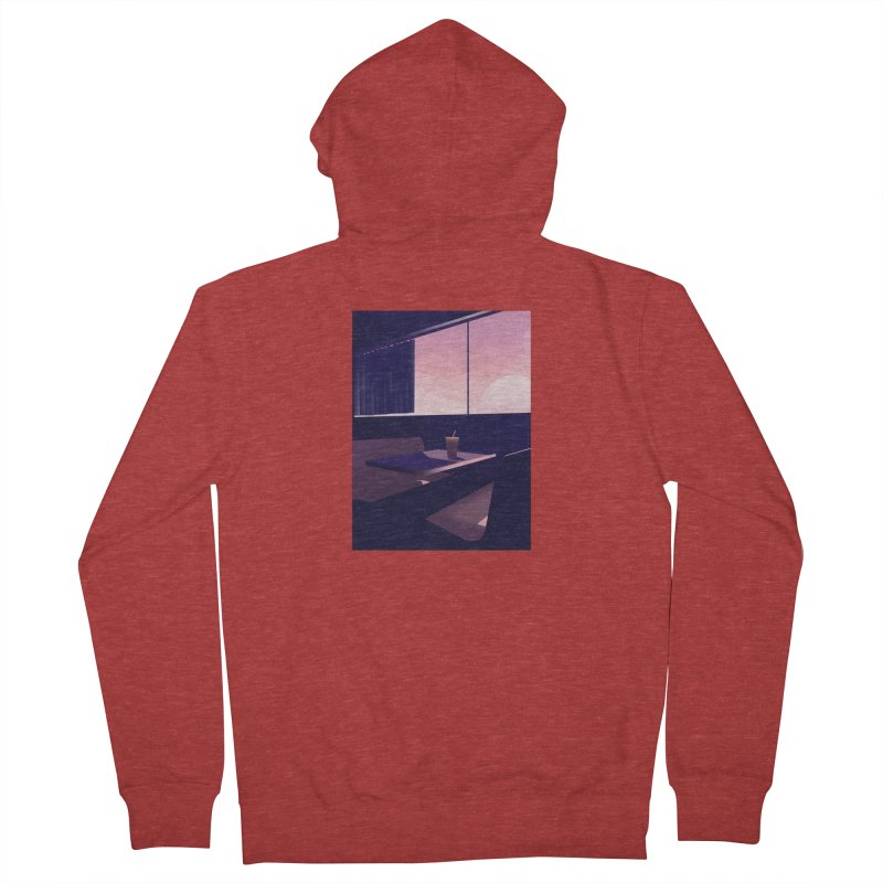 Empty Cafe Women's French Terry Zip-Up Hoody by theladyernestember's Artist Shop