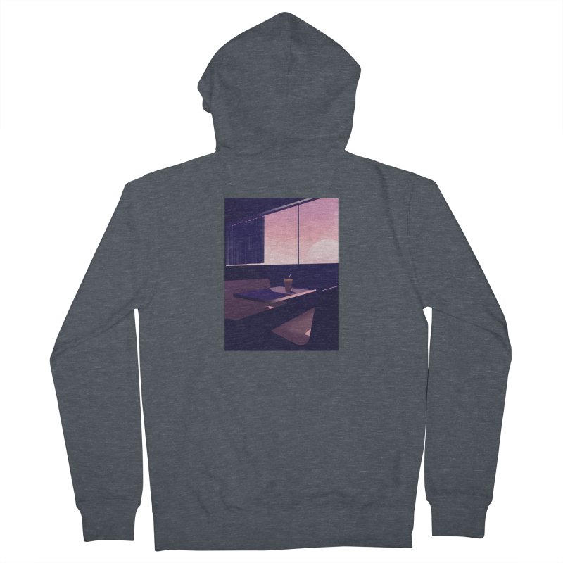 Empty Cafe Men's French Terry Zip-Up Hoody by theladyernestember's Artist Shop