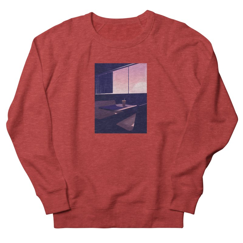 Empty Cafe Women's French Terry Sweatshirt by theladyernestember's Artist Shop