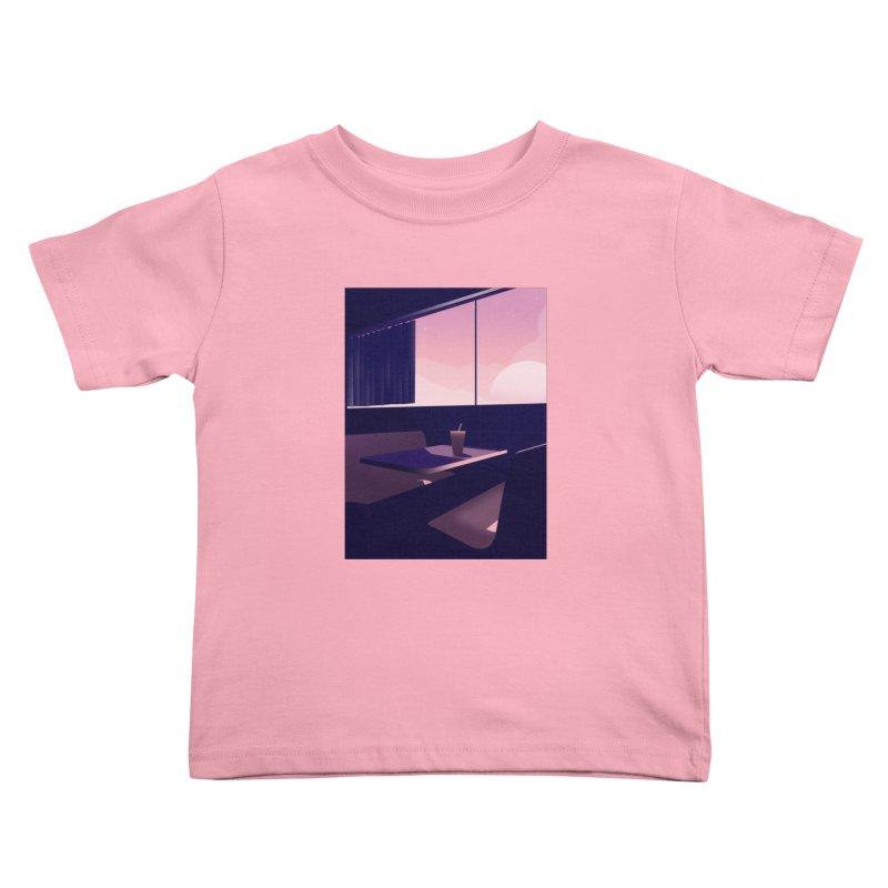 Empty Cafe Kids Toddler T-Shirt by theladyernestember's Artist Shop