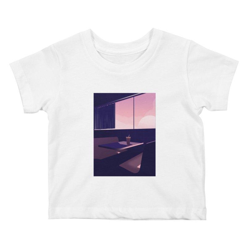 Empty Cafe Kids Baby T-Shirt by theladyernestember's Artist Shop