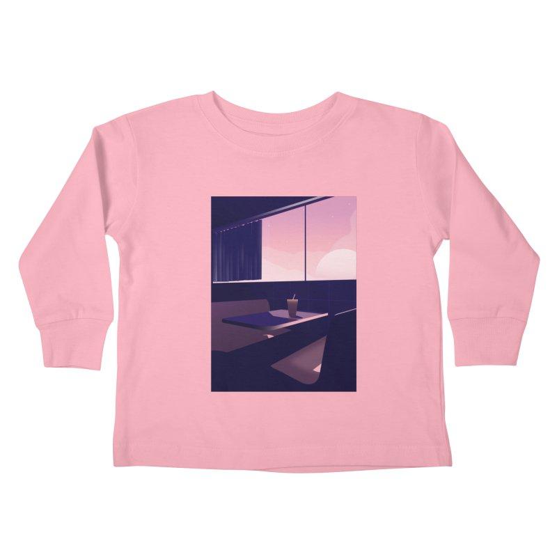 Empty Cafe Kids Toddler Longsleeve T-Shirt by theladyernestember's Artist Shop