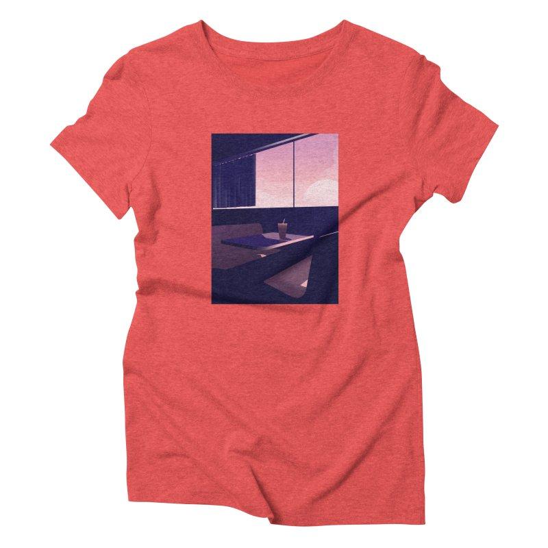 Empty Cafe Women's Triblend T-Shirt by theladyernestember's Artist Shop