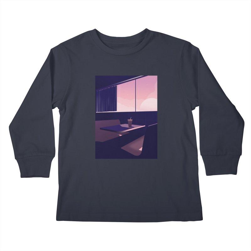 Empty Cafe Kids Longsleeve T-Shirt by theladyernestember's Artist Shop