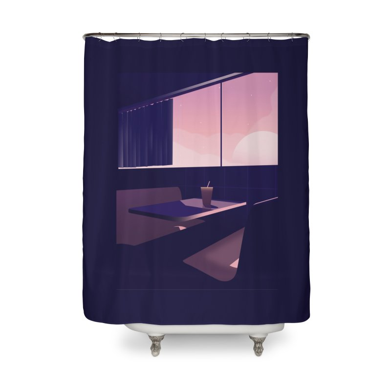 Empty Cafe Home Shower Curtain by theladyernestember's Artist Shop