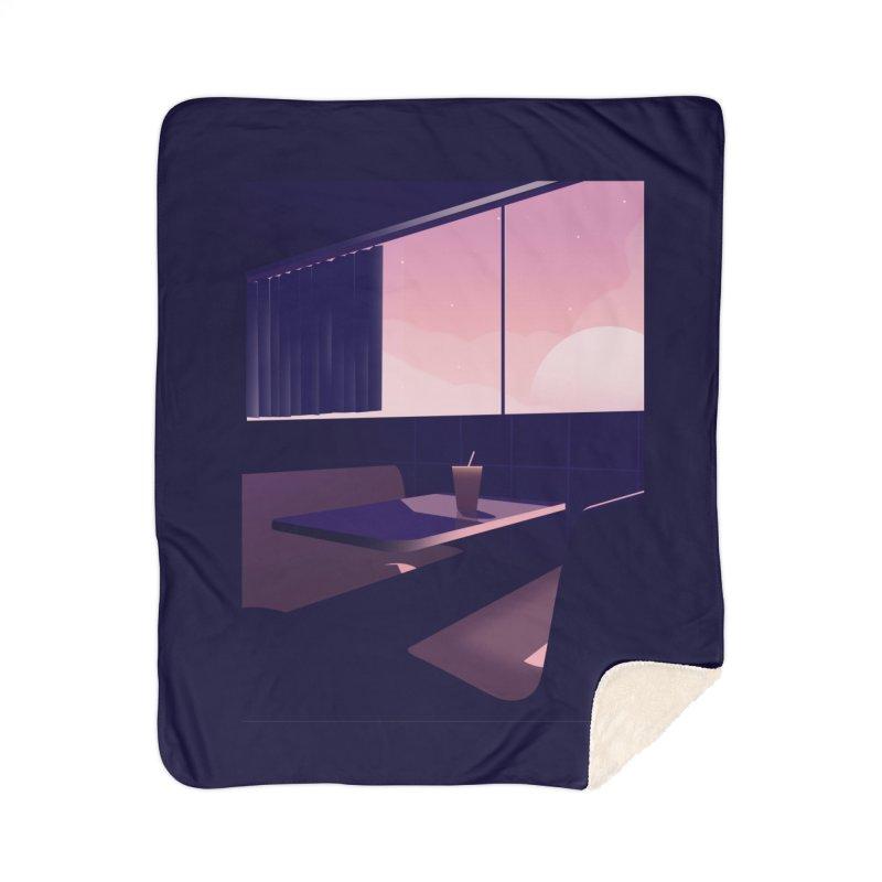 Empty Cafe Home Sherpa Blanket Blanket by theladyernestember's Artist Shop