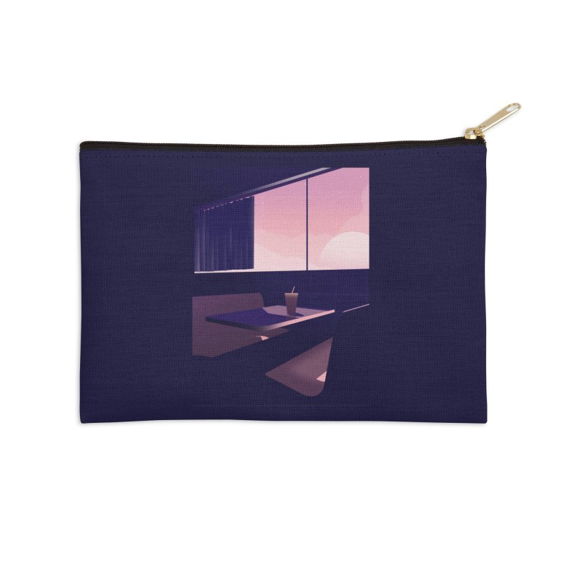Empty Cafe Accessories Zip Pouch by theladyernestember's Artist Shop