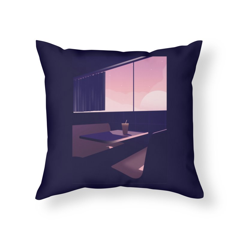 Empty Cafe Home Throw Pillow by theladyernestember's Artist Shop