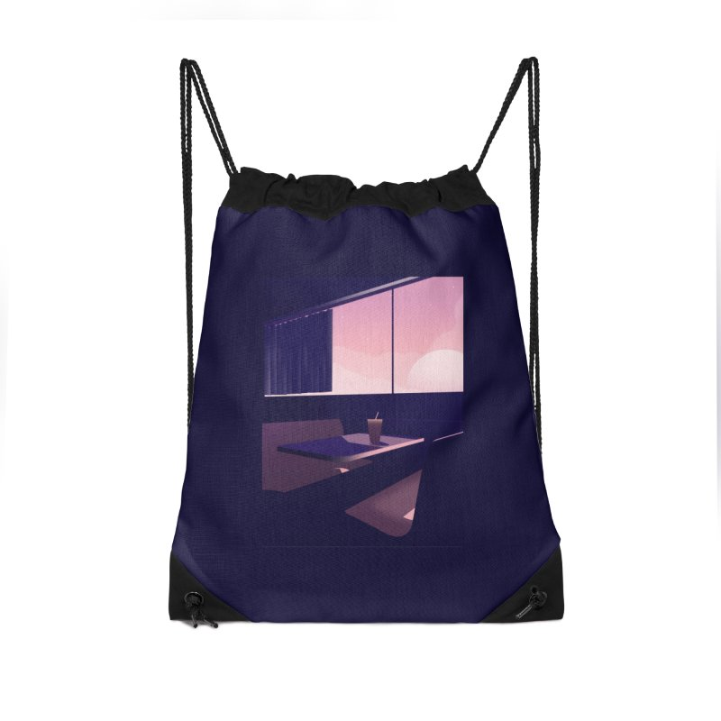 Empty Cafe Accessories Drawstring Bag Bag by theladyernestember's Artist Shop