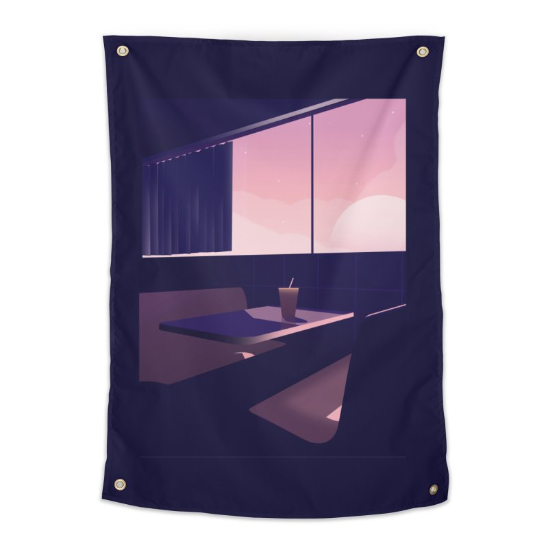 Empty Cafe Home Tapestry by theladyernestember's Artist Shop