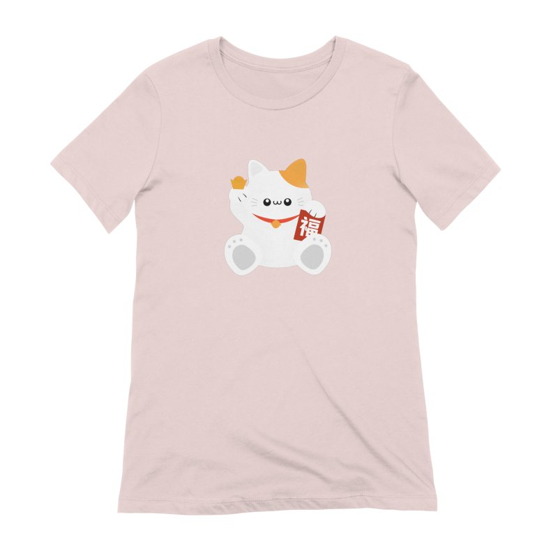 Fortune Cat Women's Extra Soft T-Shirt by theladyernestember's Artist Shop