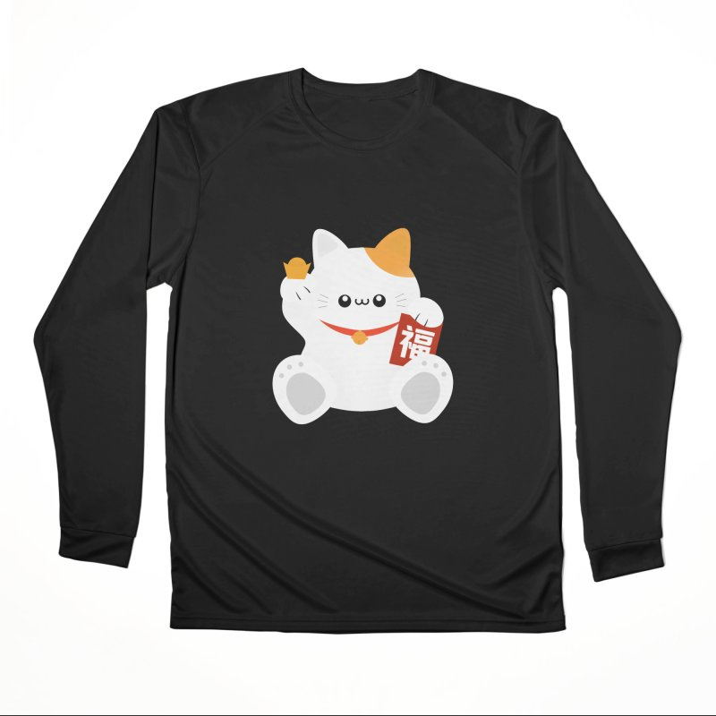 Fortune Cat Women's Performance Unisex Longsleeve T-Shirt by theladyernestember's Artist Shop