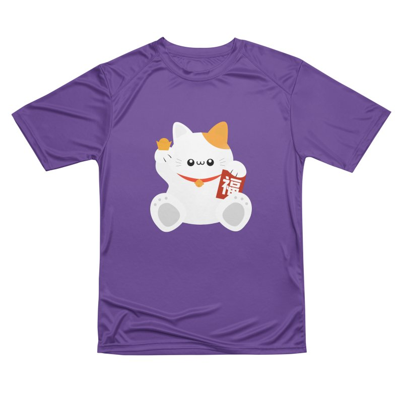 Fortune Cat Women's Performance Unisex T-Shirt by theladyernestember's Artist Shop