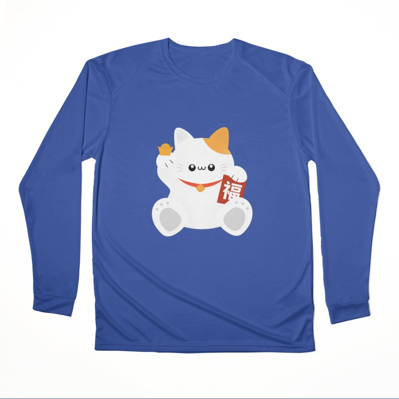 Fortune Cat Women's Longsleeve T-Shirt by theladyernestember's Artist Shop