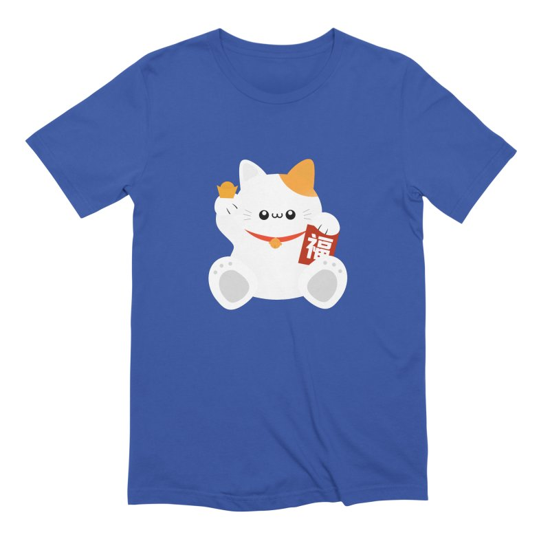 Fortune Cat Men's Extra Soft T-Shirt by theladyernestember's Artist Shop