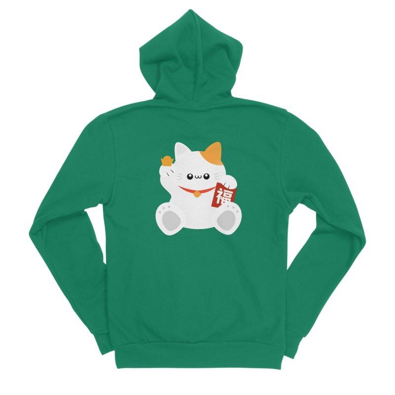 Fortune Cat Women's Sponge Fleece Zip-Up Hoody by theladyernestember's Artist Shop