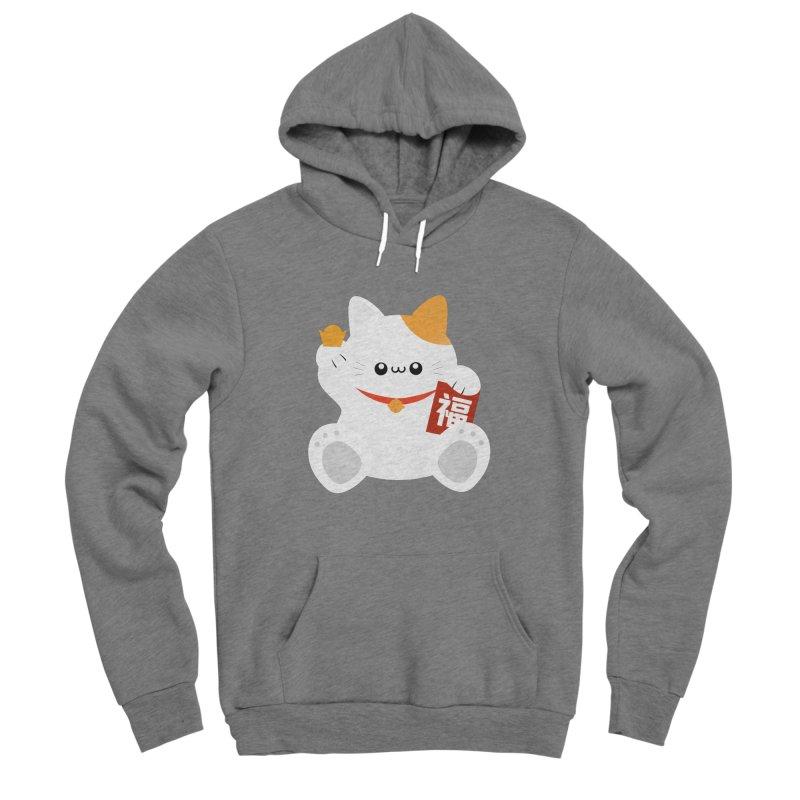 Fortune Cat Men's Sponge Fleece Pullover Hoody by theladyernestember's Artist Shop
