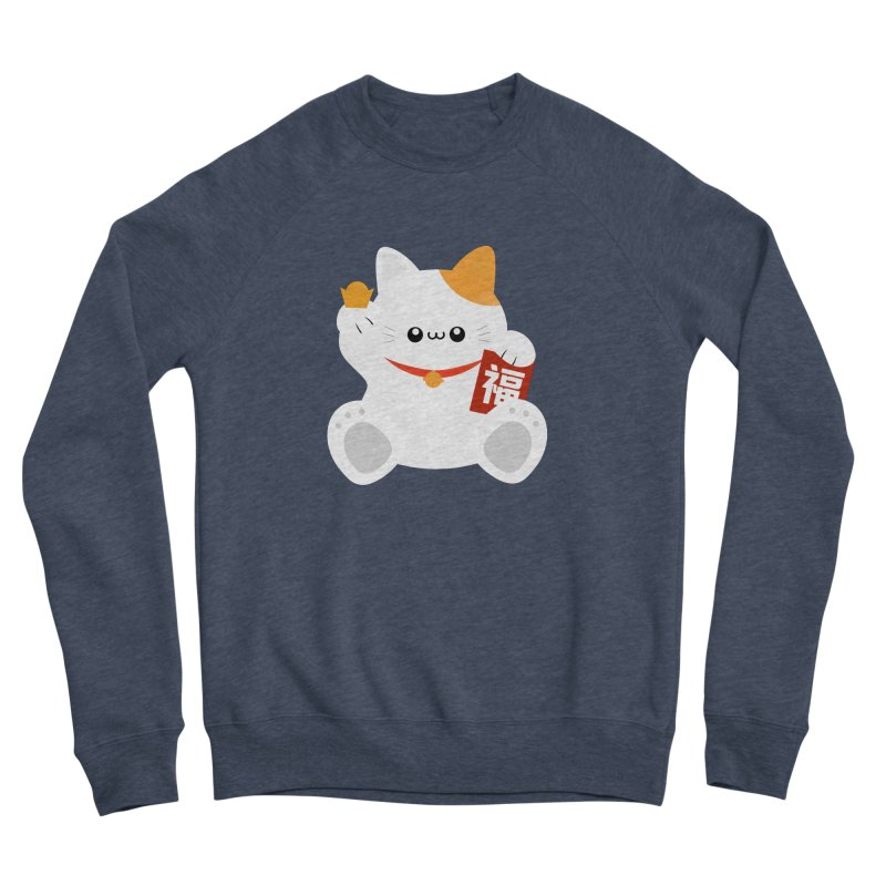 Fortune Cat Men's Sponge Fleece Sweatshirt by theladyernestember's Artist Shop