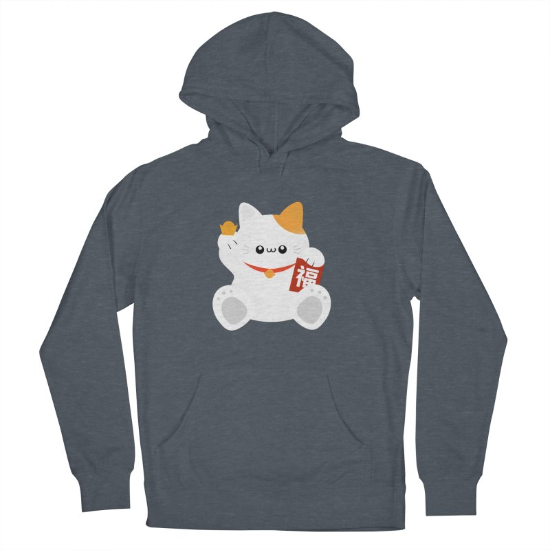 Fortune Cat Women's French Terry Pullover Hoody by theladyernestember's Artist Shop
