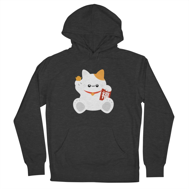 Fortune Cat Men's French Terry Pullover Hoody by theladyernestember's Artist Shop