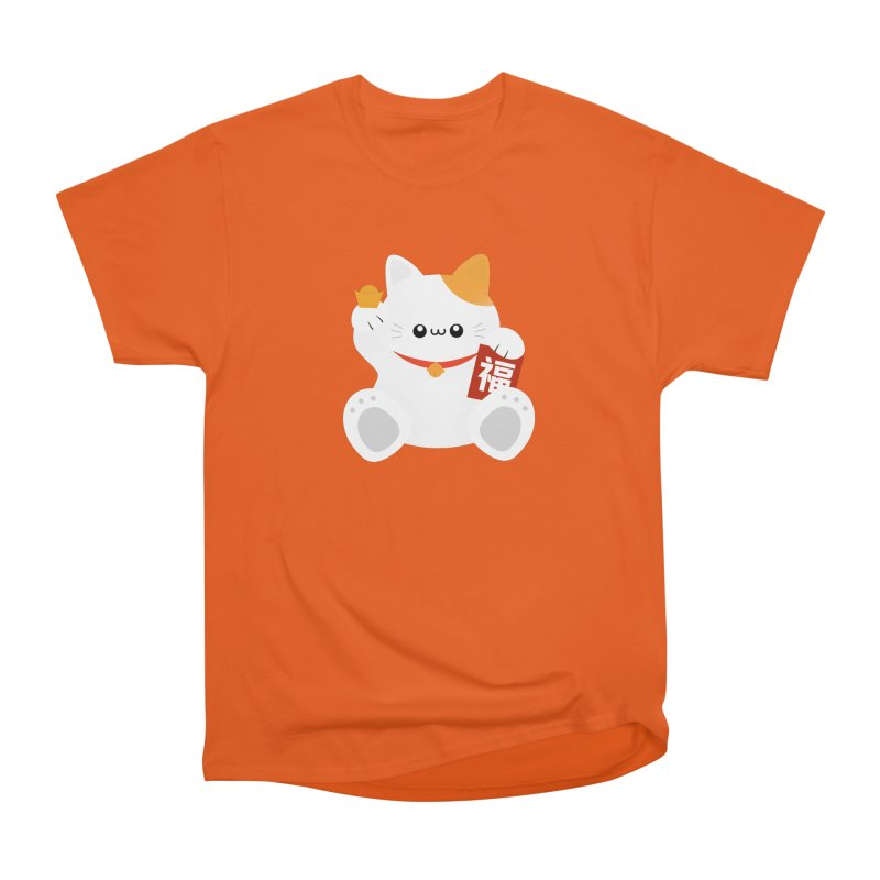 Fortune Cat Men's T-Shirt by theladyernestember's Artist Shop