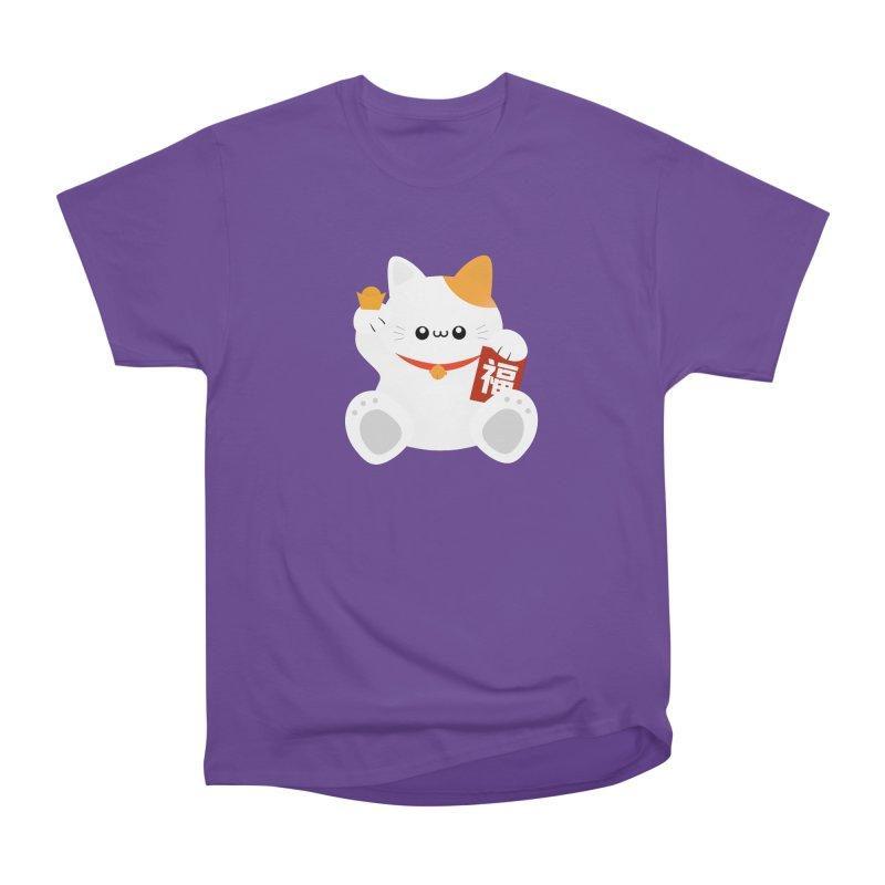 Fortune Cat Men's Heavyweight T-Shirt by theladyernestember's Artist Shop