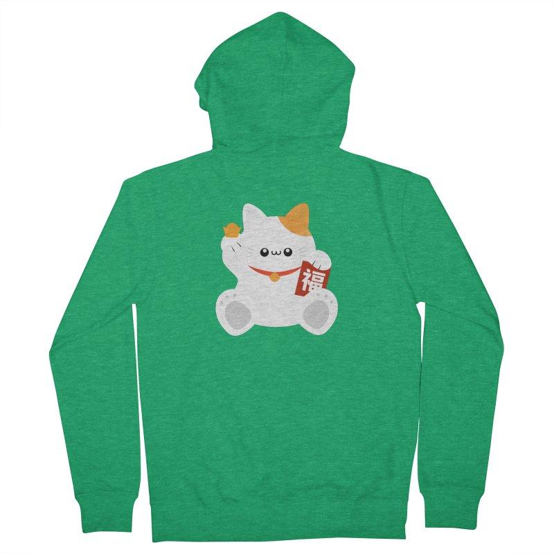 Fortune Cat Men's Zip-Up Hoody by theladyernestember's Artist Shop