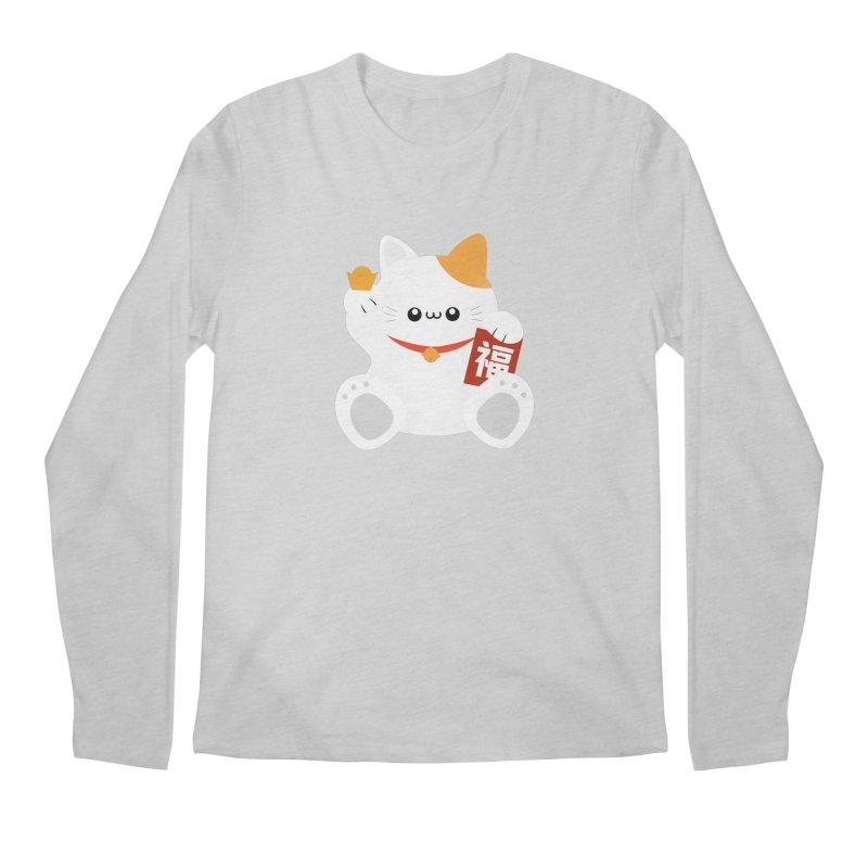 Fortune Cat Men's Regular Longsleeve T-Shirt by theladyernestember's Artist Shop