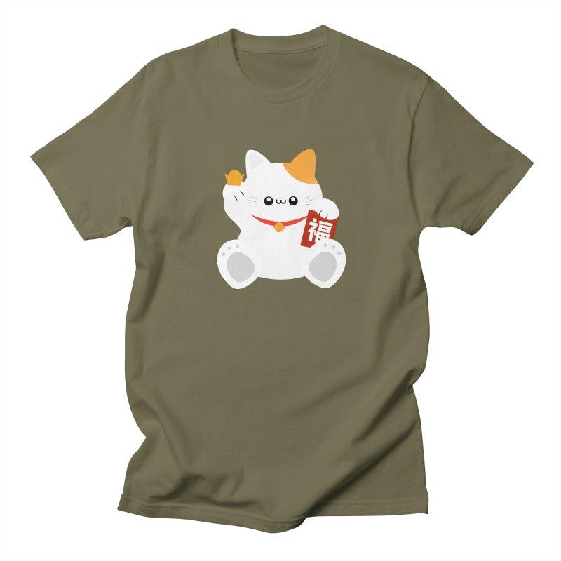 Fortune Cat Women's Regular Unisex T-Shirt by theladyernestember's Artist Shop