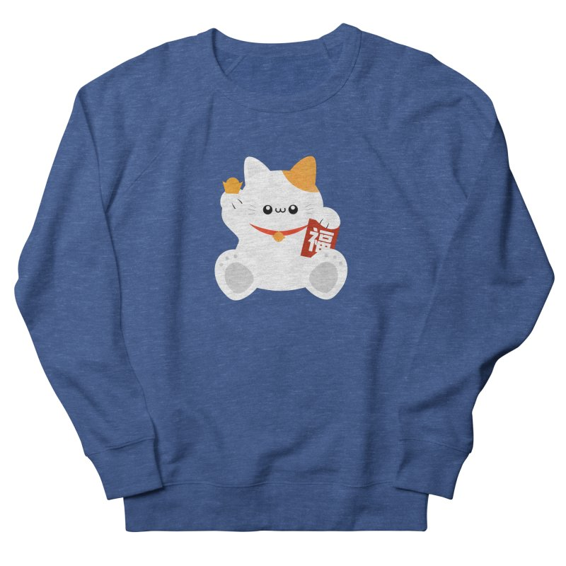 Fortune Cat Women's French Terry Sweatshirt by theladyernestember's Artist Shop