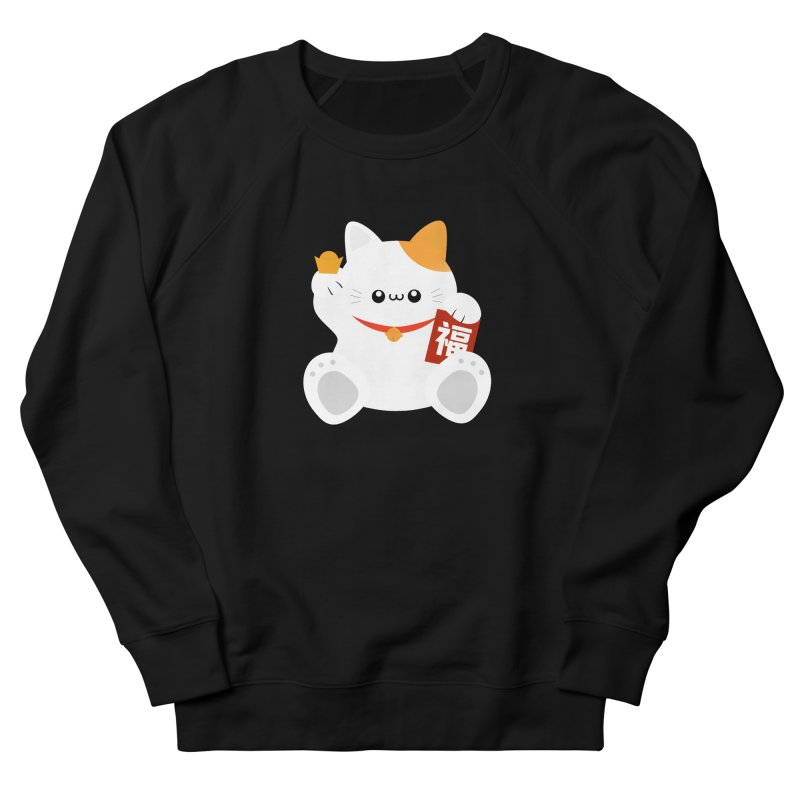 Fortune Cat Men's French Terry Sweatshirt by theladyernestember's Artist Shop