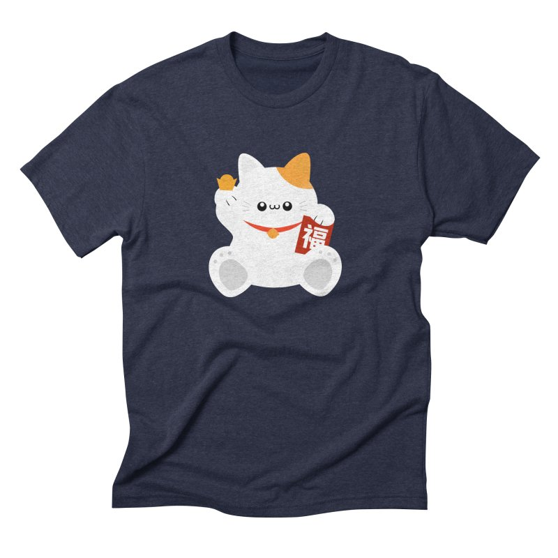Fortune Cat Men's Triblend T-Shirt by theladyernestember's Artist Shop