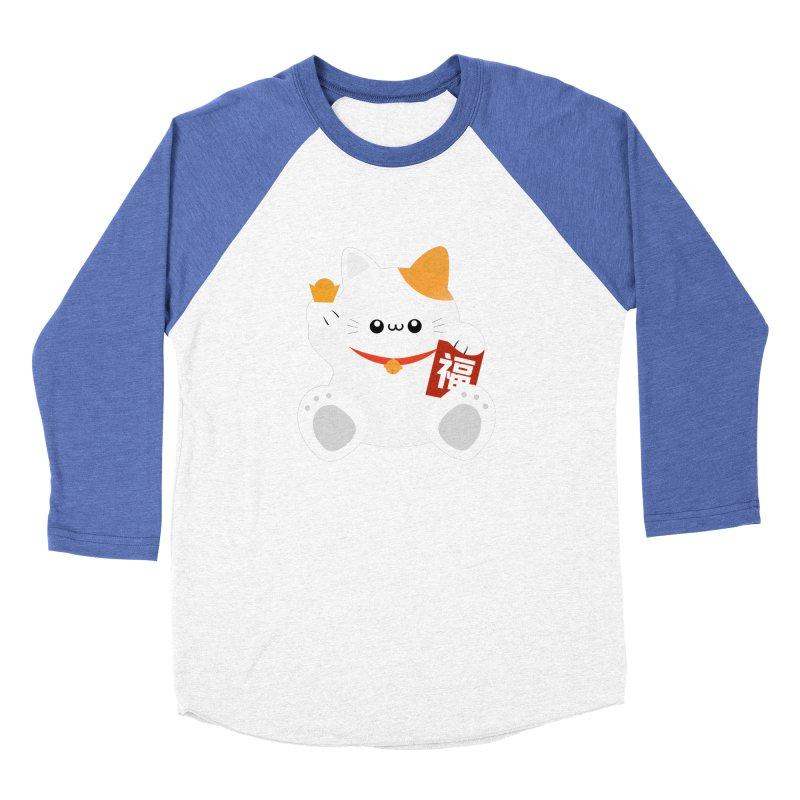 Fortune Cat Women's Baseball Triblend Longsleeve T-Shirt by theladyernestember's Artist Shop