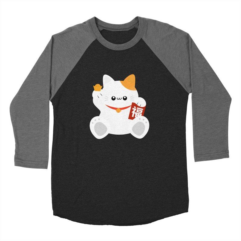 Fortune Cat Men's Baseball Triblend Longsleeve T-Shirt by theladyernestember's Artist Shop