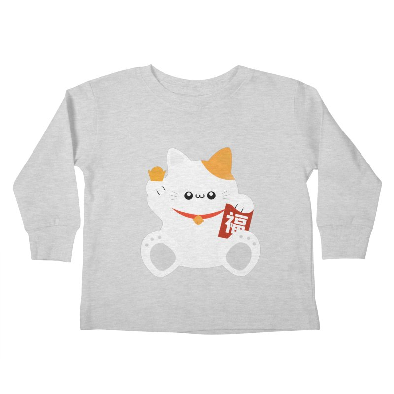 Fortune Cat Kids Toddler Longsleeve T-Shirt by theladyernestember's Artist Shop