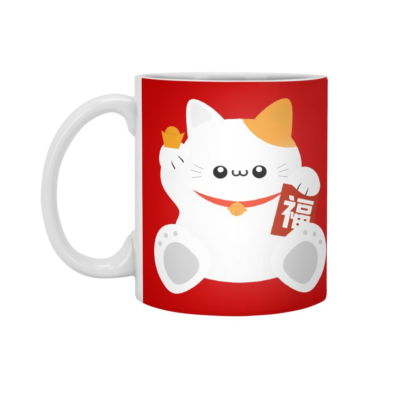 Fortune Cat Accessories Mug by theladyernestember's Artist Shop
