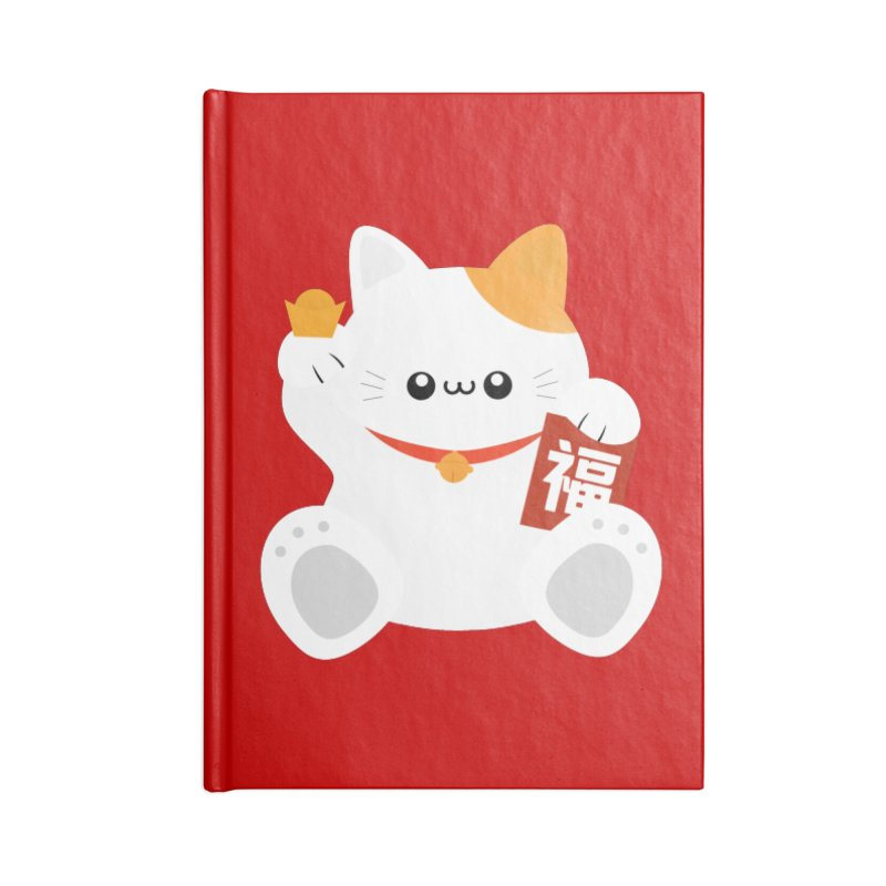 Fortune Cat Accessories Notebook by theladyernestember's Artist Shop