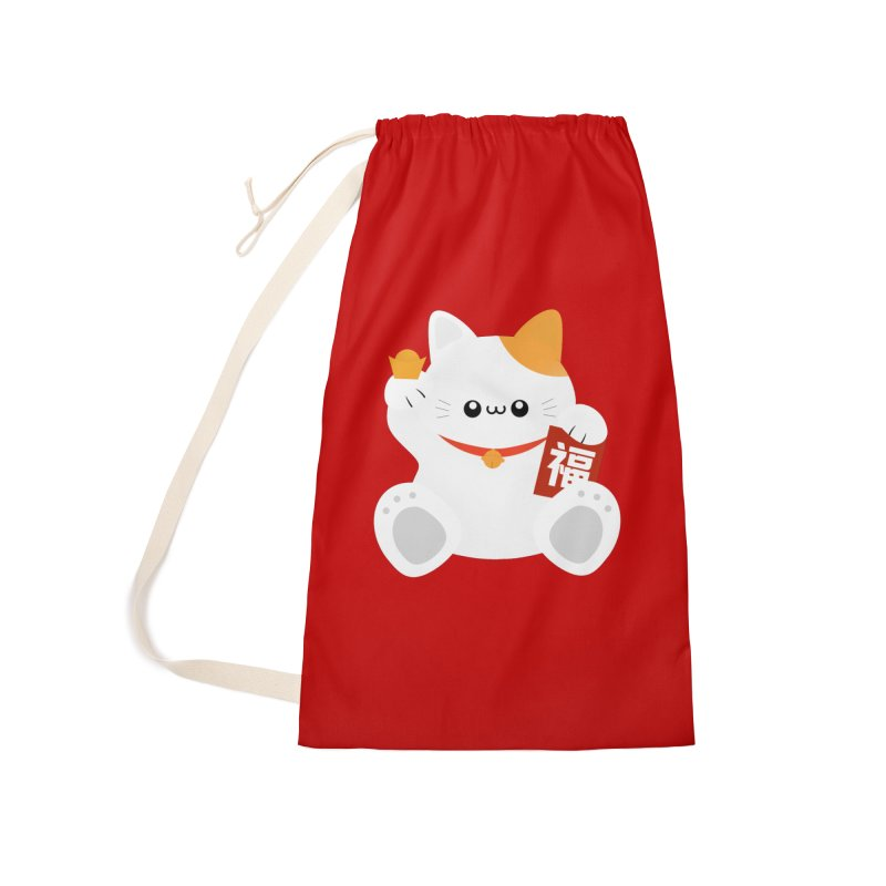 Fortune Cat Accessories Bag by theladyernestember's Artist Shop