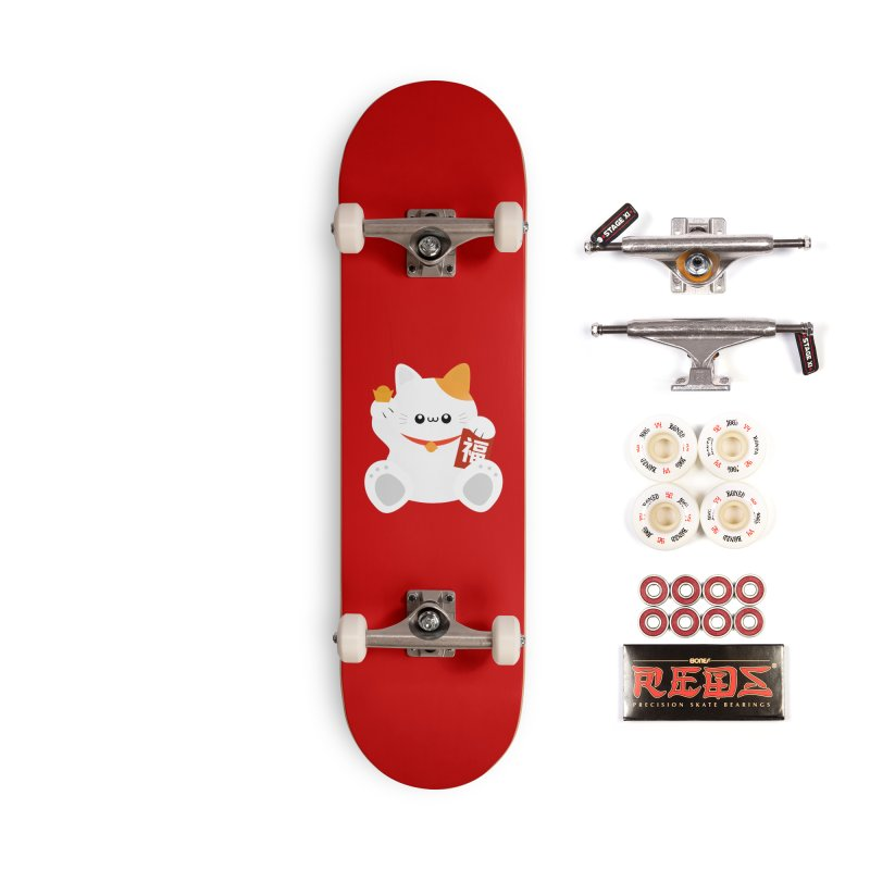 Fortune Cat Accessories Skateboard by theladyernestember's Artist Shop