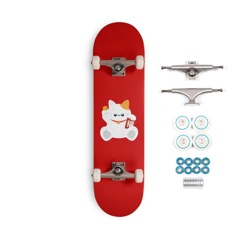 Fortune Cat Accessories Complete - Basic Skateboard by theladyernestember's Artist Shop