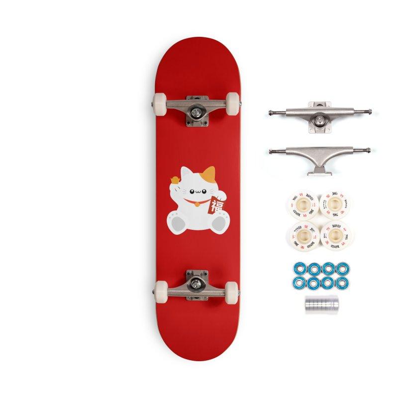 Fortune Cat Accessories Complete - Premium Skateboard by theladyernestember's Artist Shop