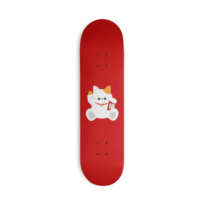 Fortune Cat Accessories Deck Only Skateboard by theladyernestember's Artist Shop