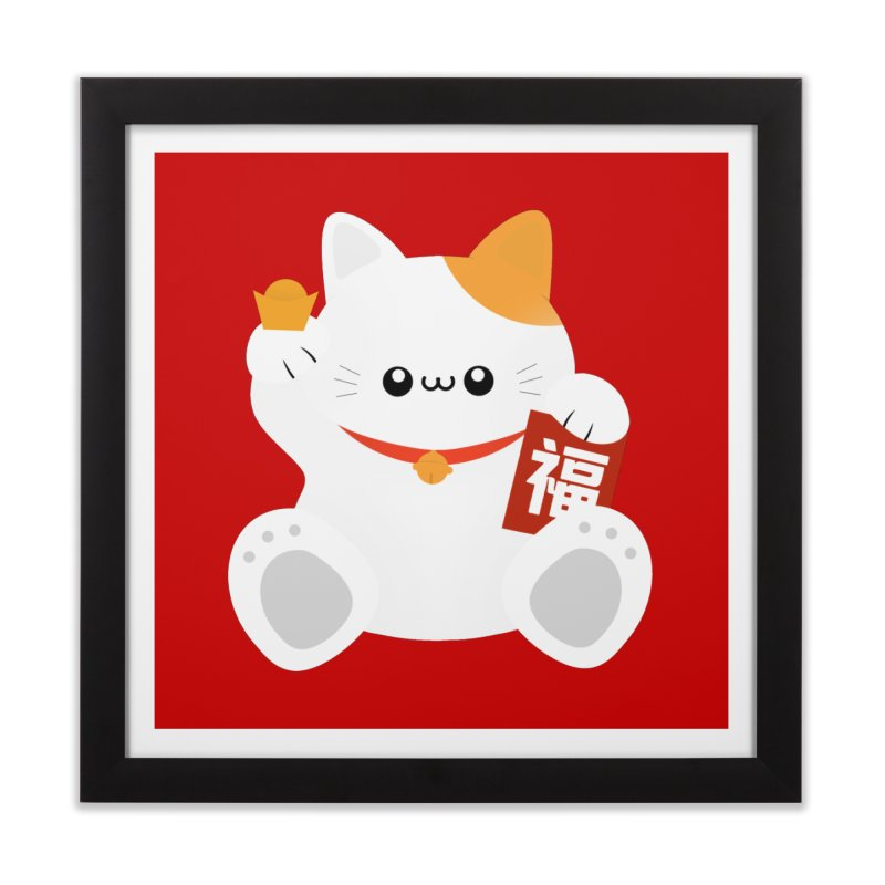 Fortune Cat Home Framed Fine Art Print by theladyernestember's Artist Shop