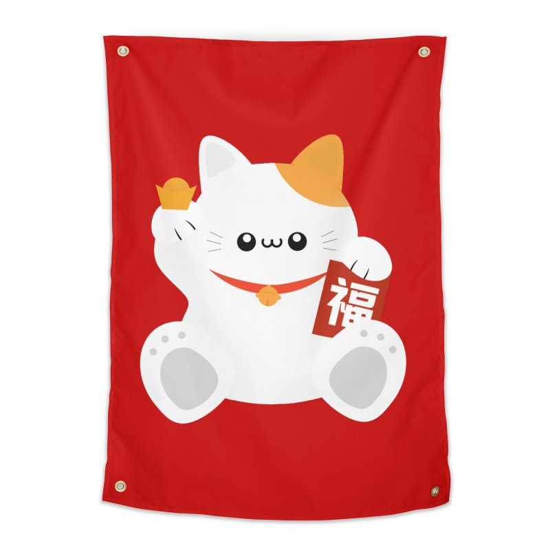 Fortune Cat Home Tapestry by theladyernestember's Artist Shop