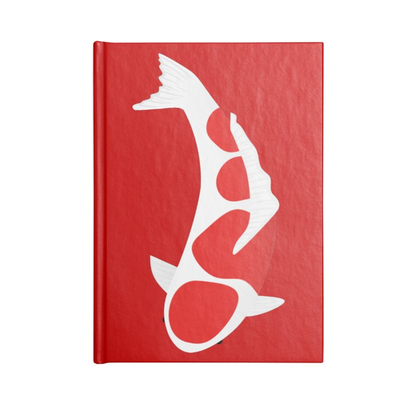 Koi Fish Accessories Notebook by theladyernestember's Artist Shop