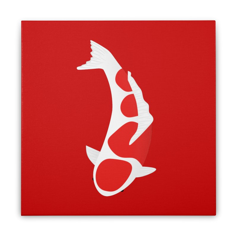 Koi Fish Home Stretched Canvas by theladyernestember's Artist Shop