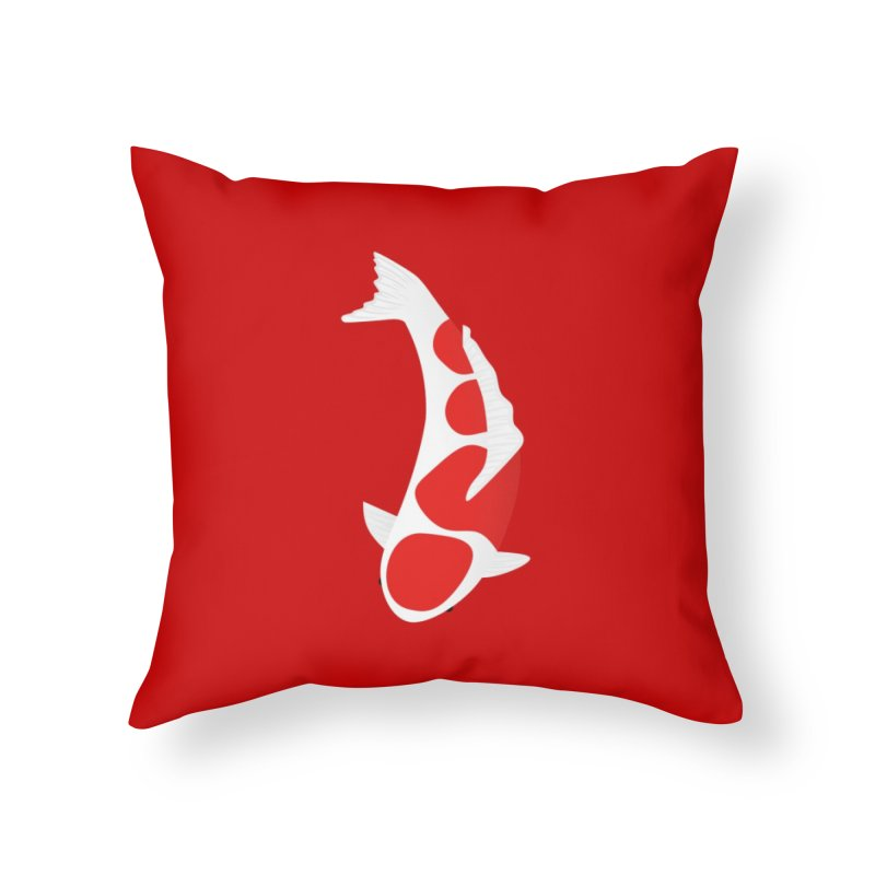 Koi Fish Home Throw Pillow by theladyernestember's Artist Shop